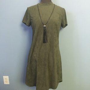 Hot Gal Faux Suede Tassel Dress